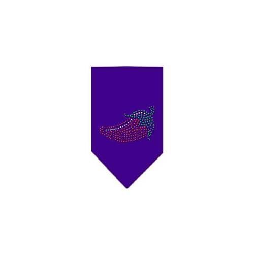 Image of Mirage 67-19 LGPR Chili Pepper Rhinestone Pet Bandana Purple Large