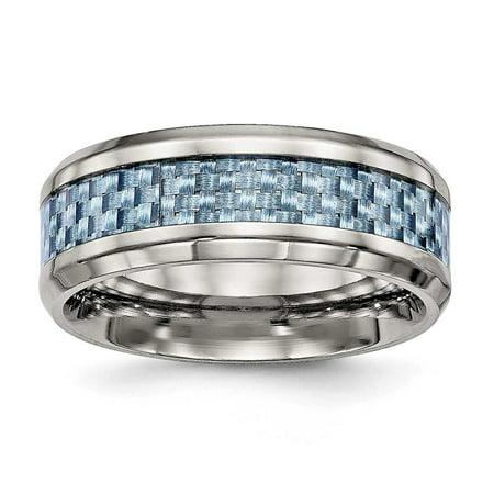 Titanium Polished Blue Carbon Fiber Inlay (Blue Titanium)