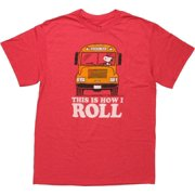 Peanuts Snoopy Bus This is How I Roll T-Shirt by