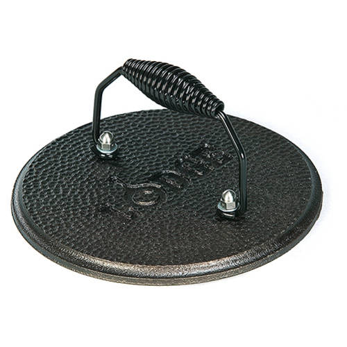 Lodge Logic Round Cast Iron Grill Press