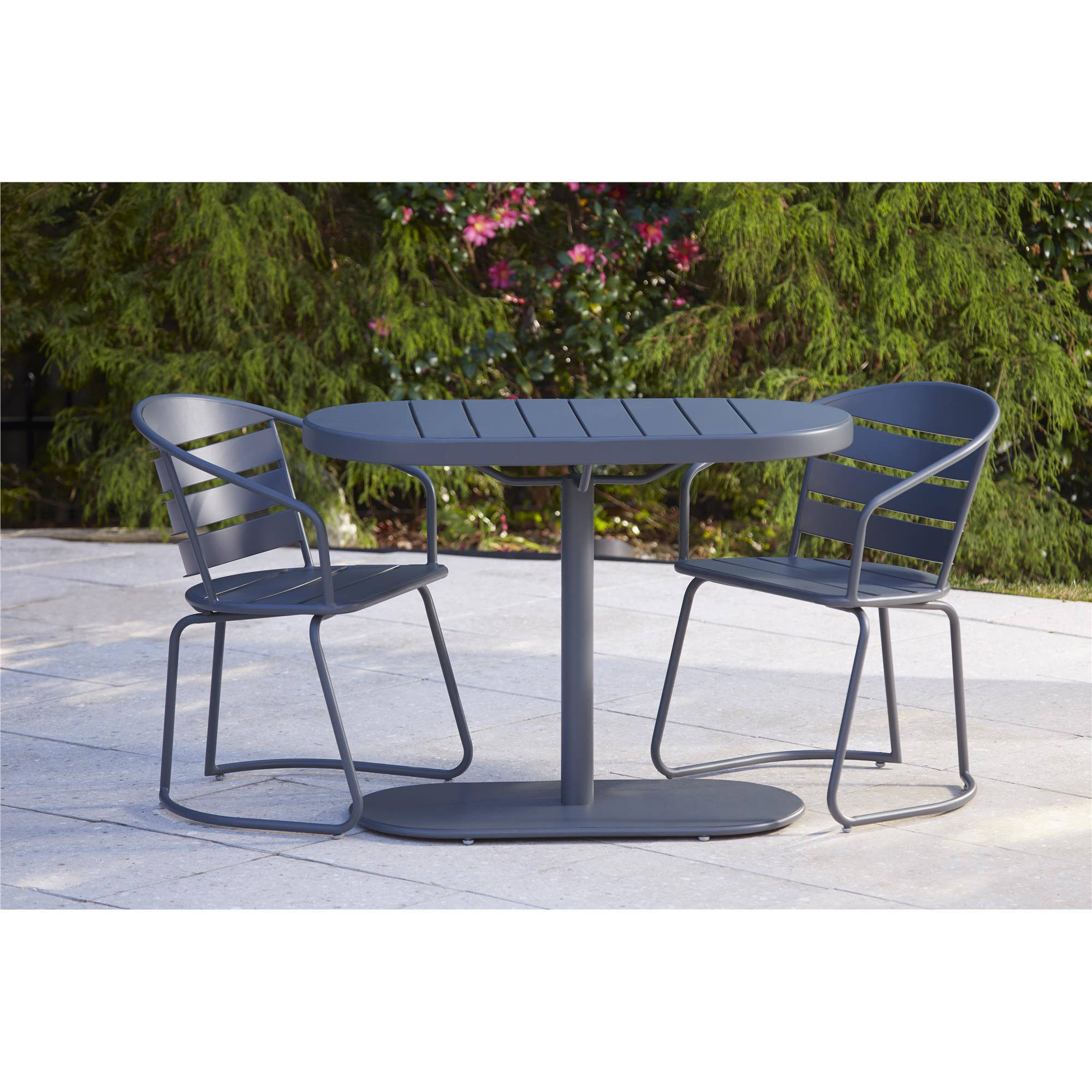 Cosco Outdoor 3-Piece Metro Retro Nesting Bistro Steel Patio Furniture Set, Assembled