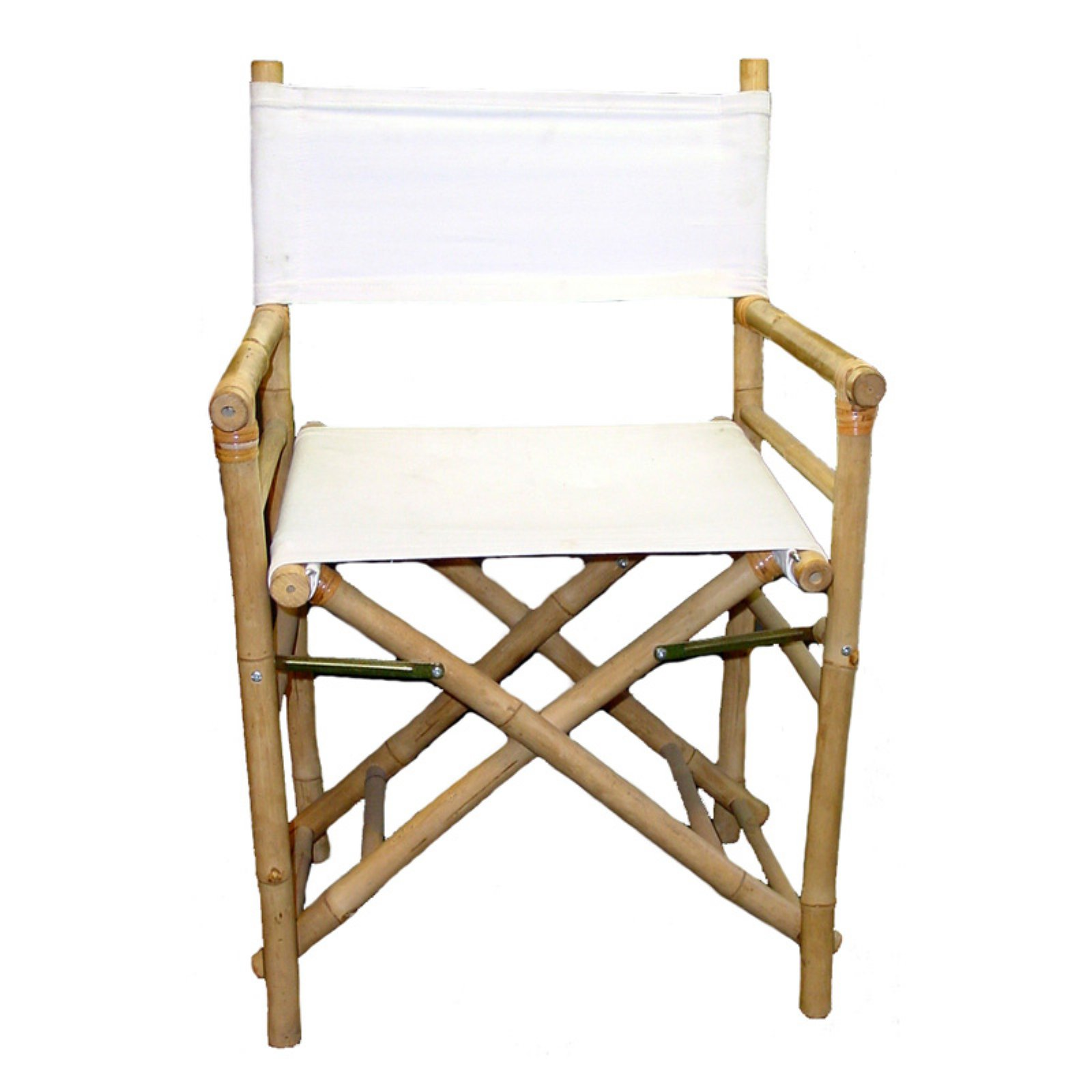 Bamboo54 Folding Bamboo Low Directors Chair with Canvas Cover - Set of 2