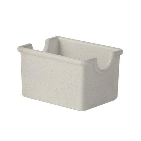 3.5 inch x 2.5 inch Plastic Sugar Caddy 2 inch Deep Ironstone SAN/Case of 24