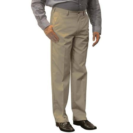 - Men's Premium Flat Front Khaki Pants