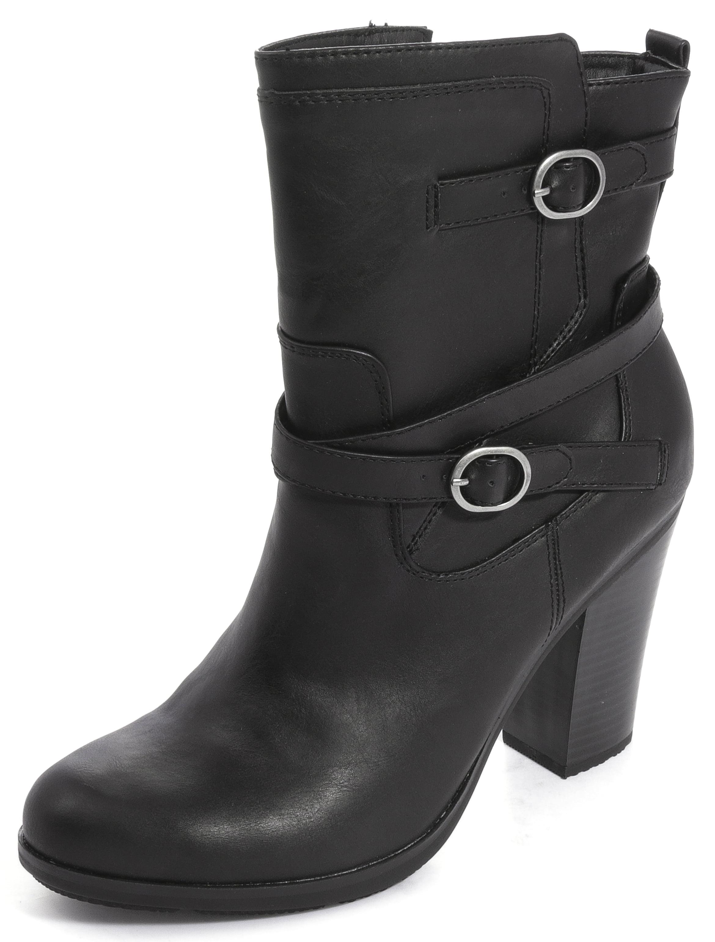Womens Ameliya Round Toe Ankle Fashion Boots