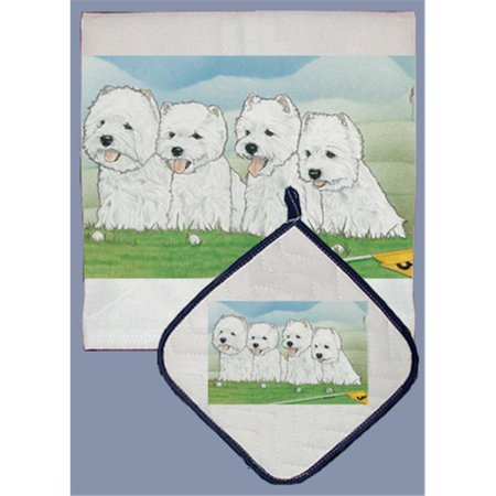 Pipsqueak Productions DP938 Dish Towel and Pot Holder Set - Shar-Pei