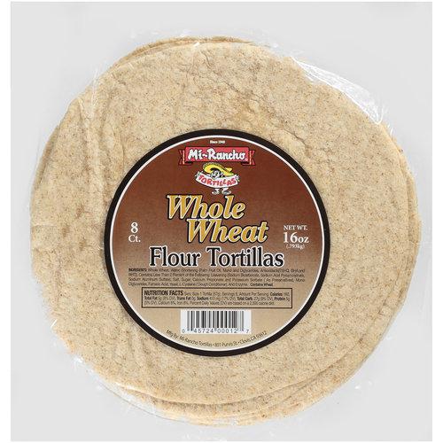 Mi-Rancho Whole Wheat Flour Tortillas, 16 oz