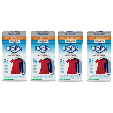 Woolite At-Home Dry Cleaner, Fragrance Free, 24 Cloths ...