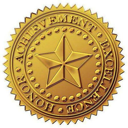 Gold Star Seal (Star Gold Foil Seal )