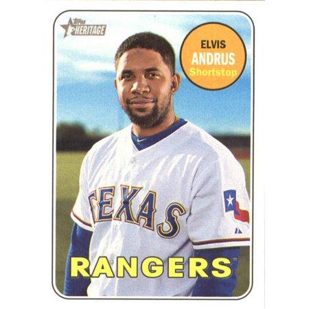 2018 Topps Heritage #153 Elvis Andrus Texas Rangers Baseball Card
