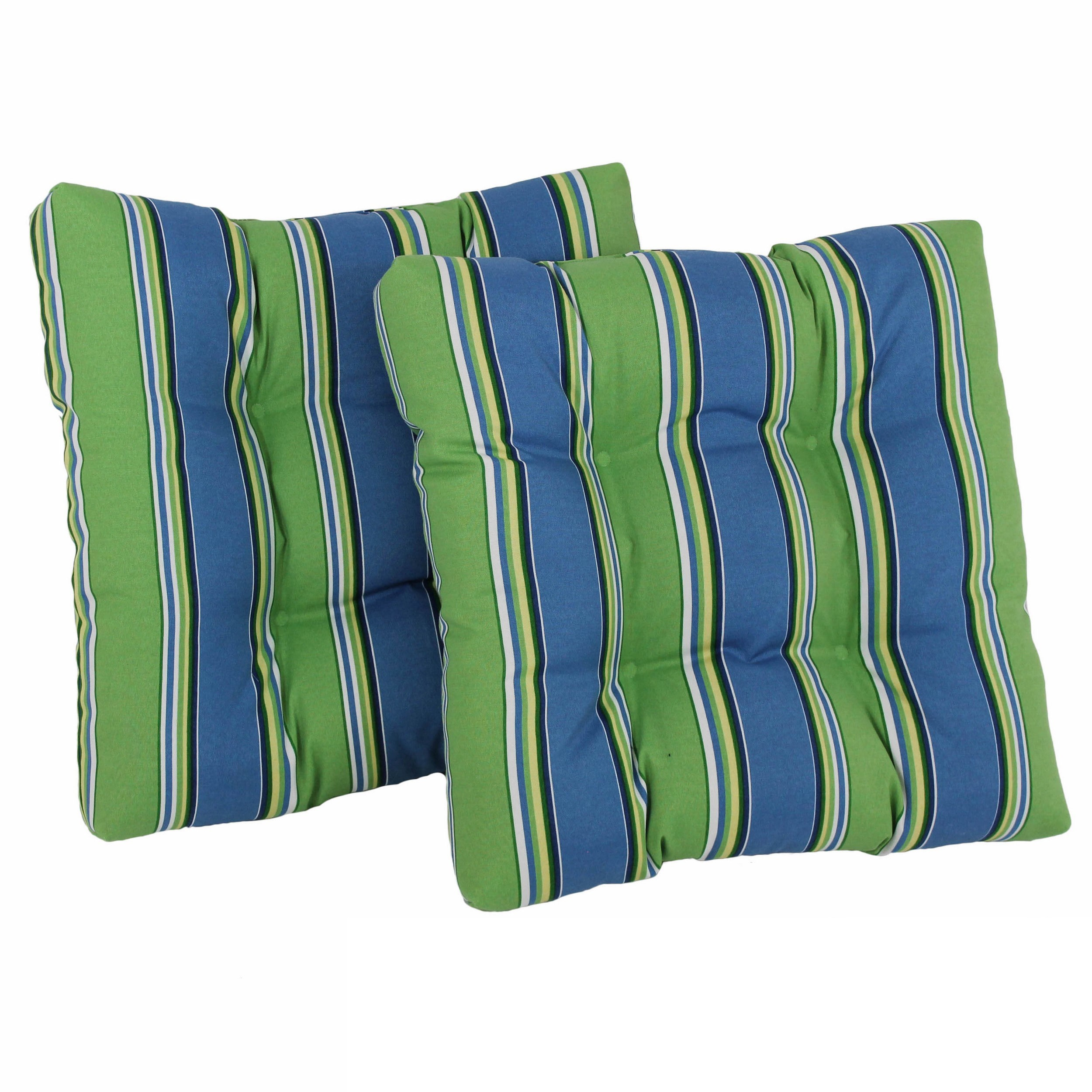 Blazing Needles  All-weather Square Outdoor Chair Cushions (Set of 2)