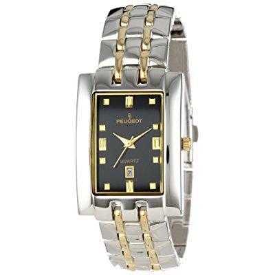 Peugeot men's 195m two-tone bracelet watch