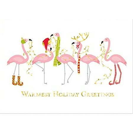 Fashionista pink flamingos 18 christmas holiday boxed greeting cards fashionista pink flamingos 18 christmas holiday boxed greeting cards m4hsunfo