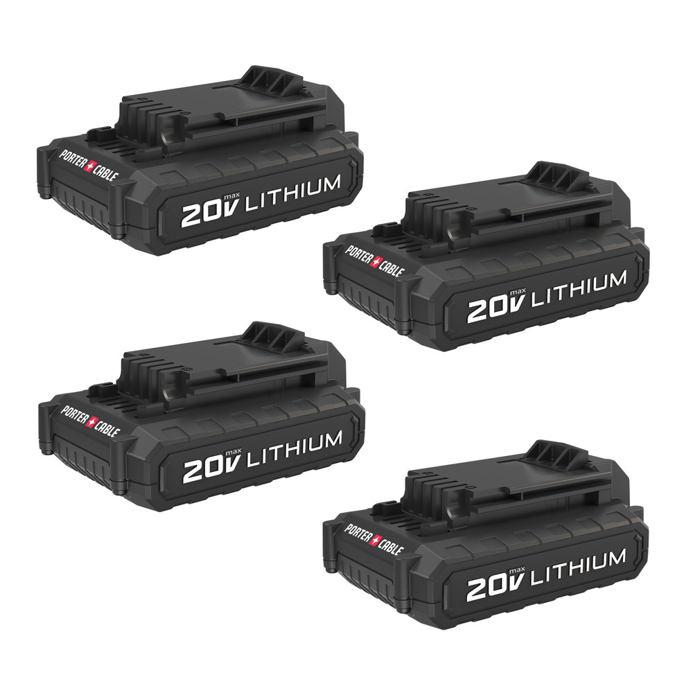 Porter-Cable PCC681L4 20V MAX Lithium Ion Battery (4-pack) by Stanley Black & Decker