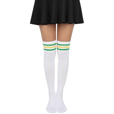 029d0bbe9 HDE Women Three Stripe Over Knee High Socks Extra Long Athletic Sport Tube  Socks (White Blue) - Walmart.com