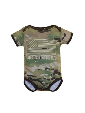 "69b5c3c7bb6a Product Image Baby Boys ""Future Recruit"" Flag Bodysuit Multicam Camo 9-12  Months"