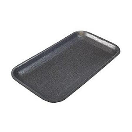 (CKF 17SB, #17S Black Foam Meat Trays, Disposable Standard Supermarket Meat Poultry Frozen Food Trays, 100-Piece Bundle)