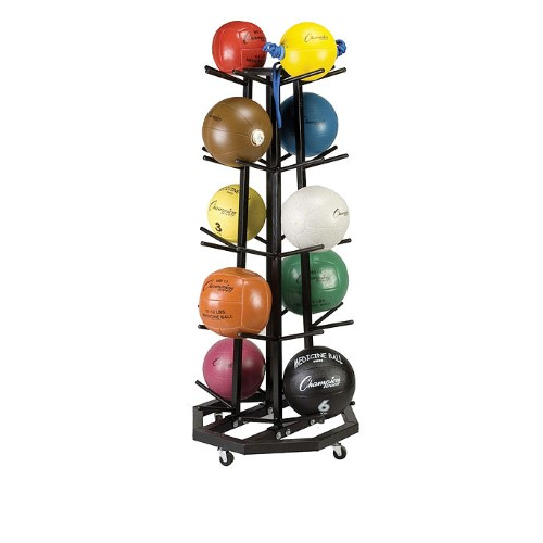 Champion Sports Rack with Wheels for 20 Medicine Balls by Champion