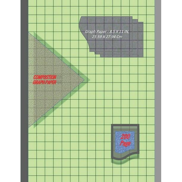 Graph Paper Notebook 8.5 X 11 IN, 21.59 X 27.94 Cm : 1/2