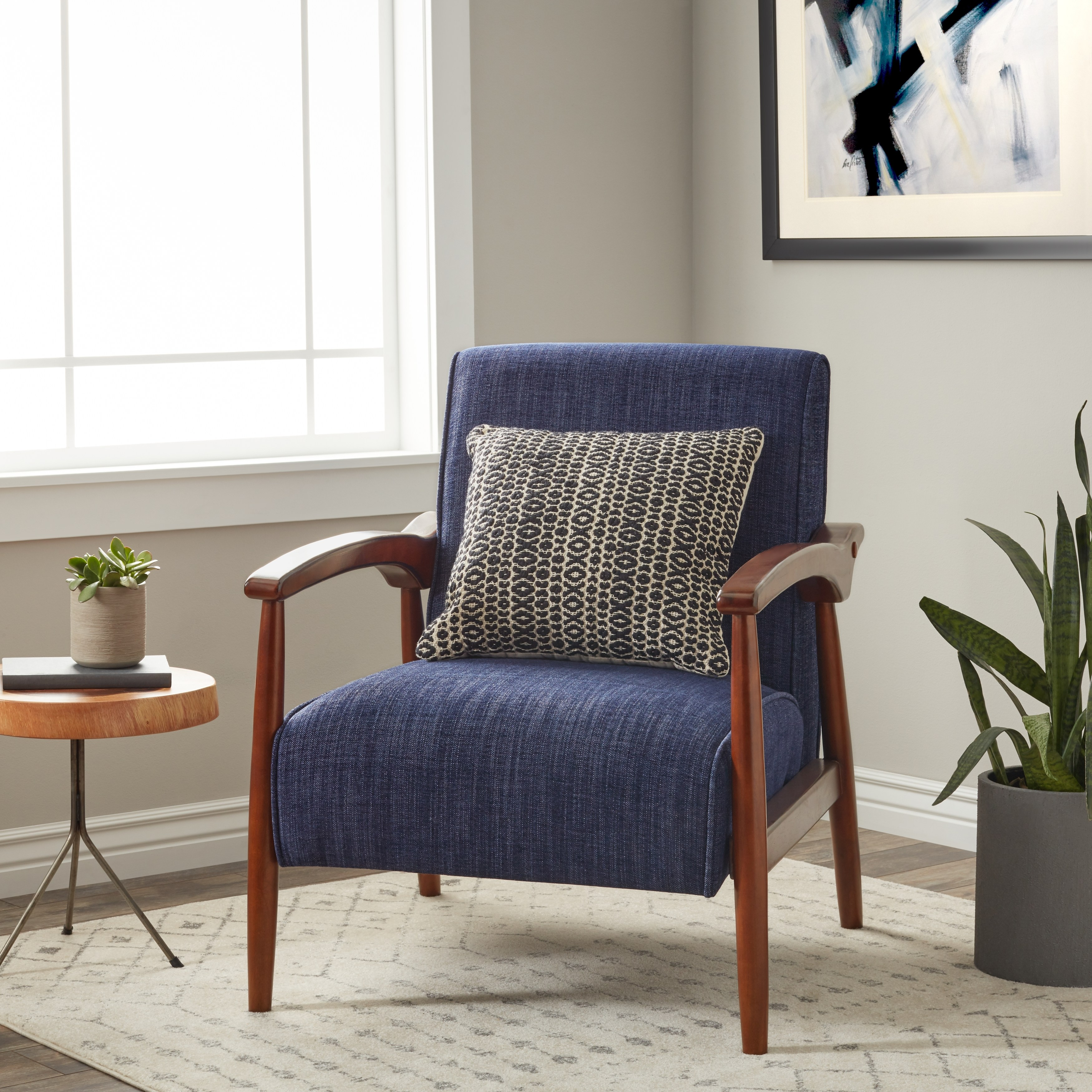 Strick U0026 Bolton Gracie Retro Arm Chair   Walmart.com