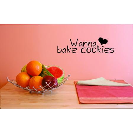 Wall Design Pieces Wanna Bake Cookies Hekitchen 6x20 - Bake On Paint