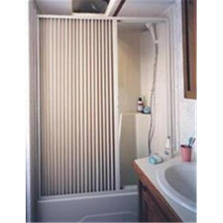 3657SW 36 x 57 In. - Pleated Shower Door, White