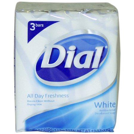 - 6 Pack Dial Antibacterial Deodorant Soap 4oz Bars White 3 Each