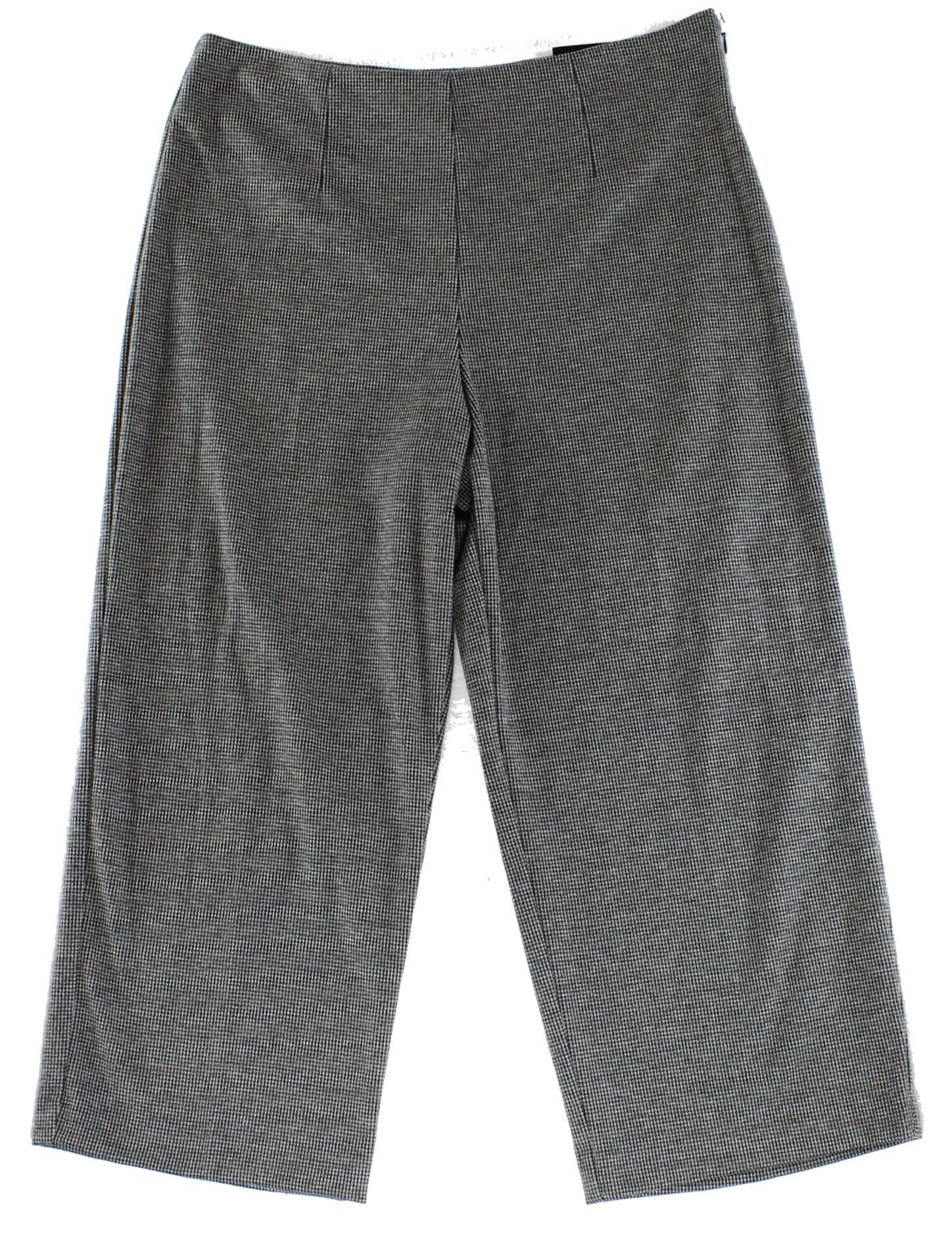 Alfani NEW Gray Womens Size 16 Flat Front Capri Cropped Dress Pants