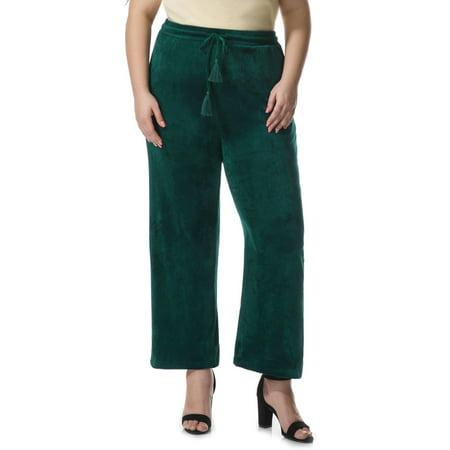 Women's Plus Size Velvet Drawstring (Plush Velvet Pant)