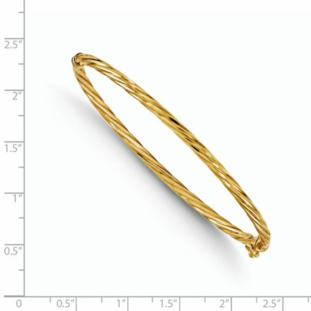 14k Yellow Gold Bangle Bracelet Cuff Expandable Stackable Hinged Fine Jewelry Gifts For Women For Her - image 2 of 6