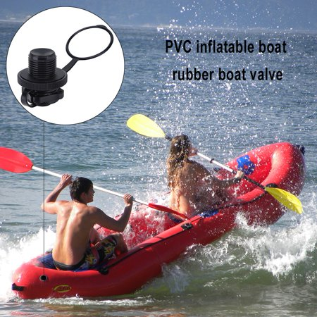 WALFRONT 2pcs Replacement Screw Air Valve for Inflatable Rubber Dinghy Raft Pool Boat, Inflatable Boat Air Valve, Inflatable Boat Accessory
