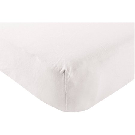 Touched by Nature Baby Boy and Girl Organic Cotton Fitted Crib Sheet - White