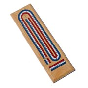 3 Track Cribbage Board (Red, White, and Blue) New