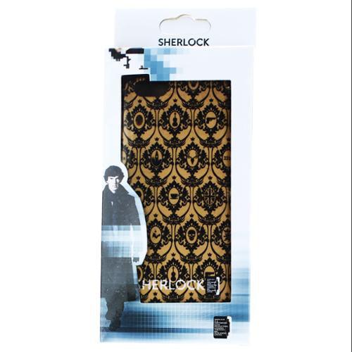 Sherlock Holmes iPhone 6 Hard Snap Case Wallpaper (Cream)