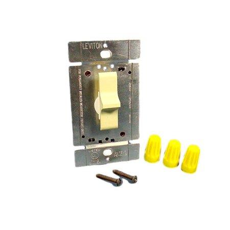 Leviton Ivory Decora Slide Light Dimmer Switch 600W Incandescent 3-Way 6644-I Ivory Decora Slide