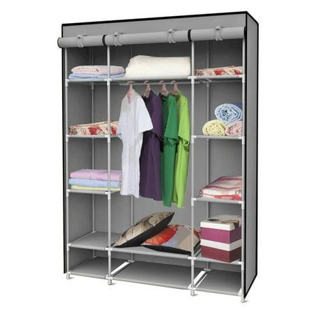 - Sunbeam Storage Closet with Shelving, Grey