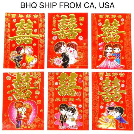 chinese red wedding envelopes 36 pcs dimension 4 1 2long x 3 1