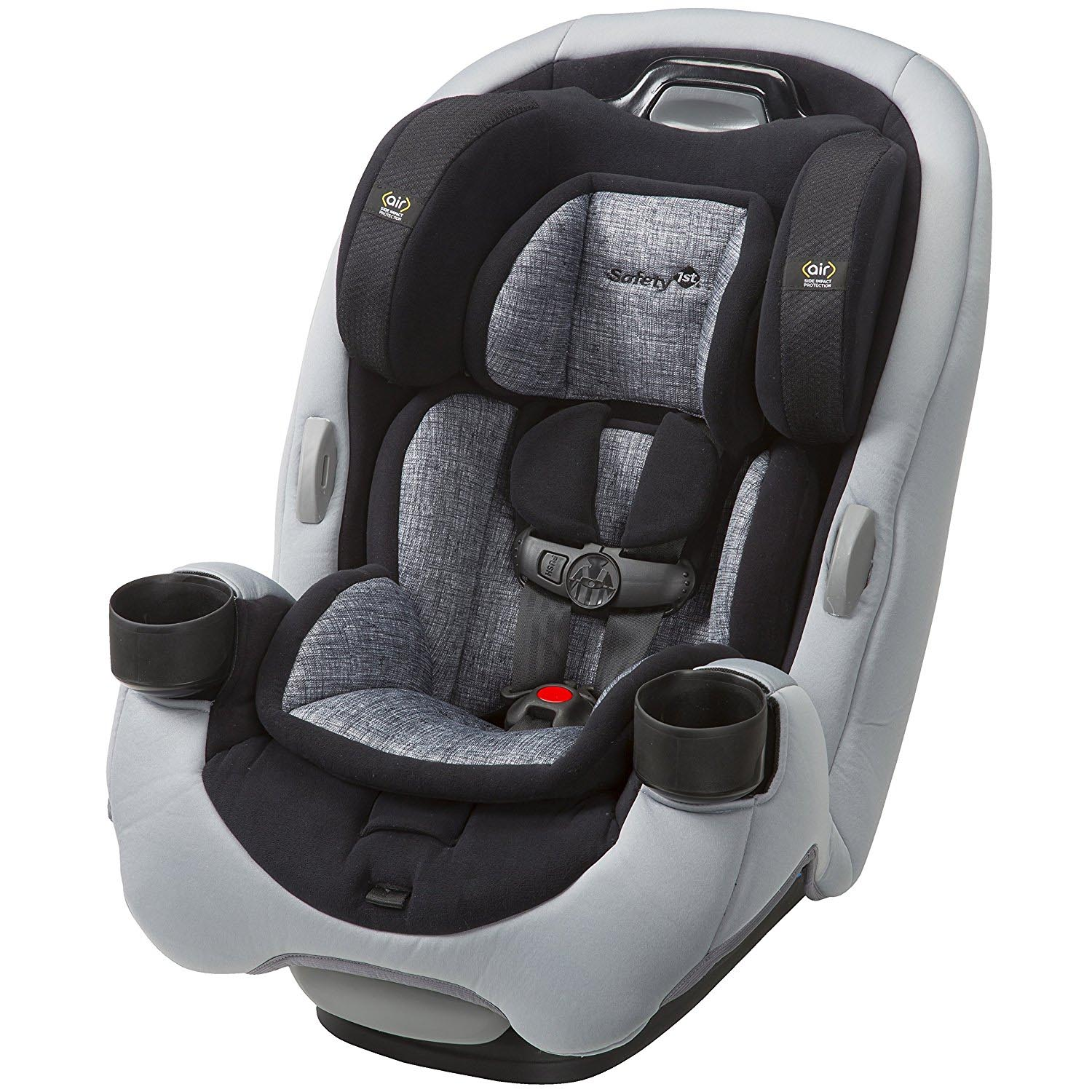 Safety 1st Grow and Go Ex Air 3 In 1 Baby Convertible Car Seat, Lithograph Gray