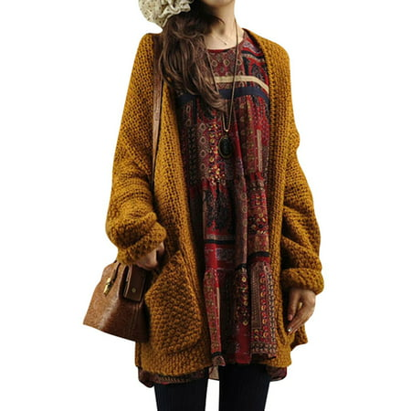LMart Women Autumn Winter Knitting Cardigan Sweater Coat Knitwear With Pocket