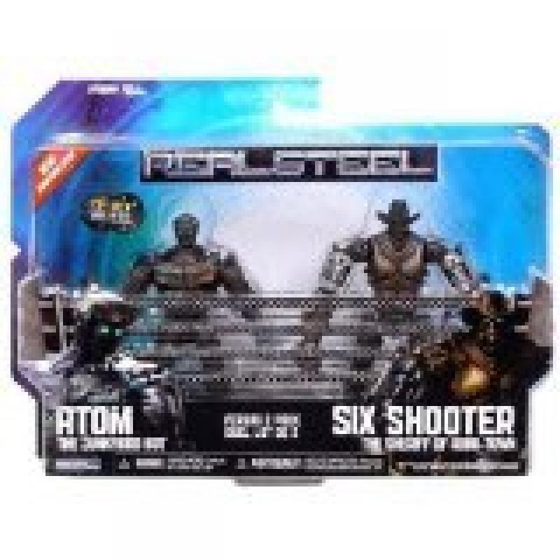 Real Steel Movie BASIC Action Figure 2Pack Atom Vs. Six S...