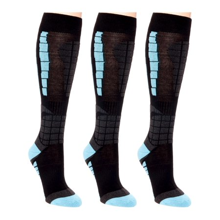 3 Pack LISH Women's Ski Snowboarding Over The Calf Thermal Snow