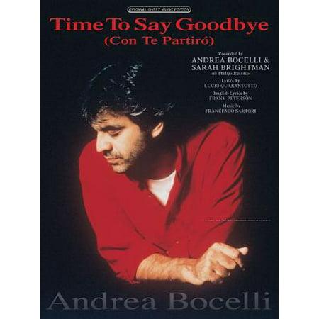 Time to Say Goodbye : (Con Te Partiro) (Time To Say Goodbye Trumpet Sheet Music)