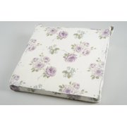 "16"" Tea Garden Cream, Blue and Purple Floral Outdoor Chair Cushion"