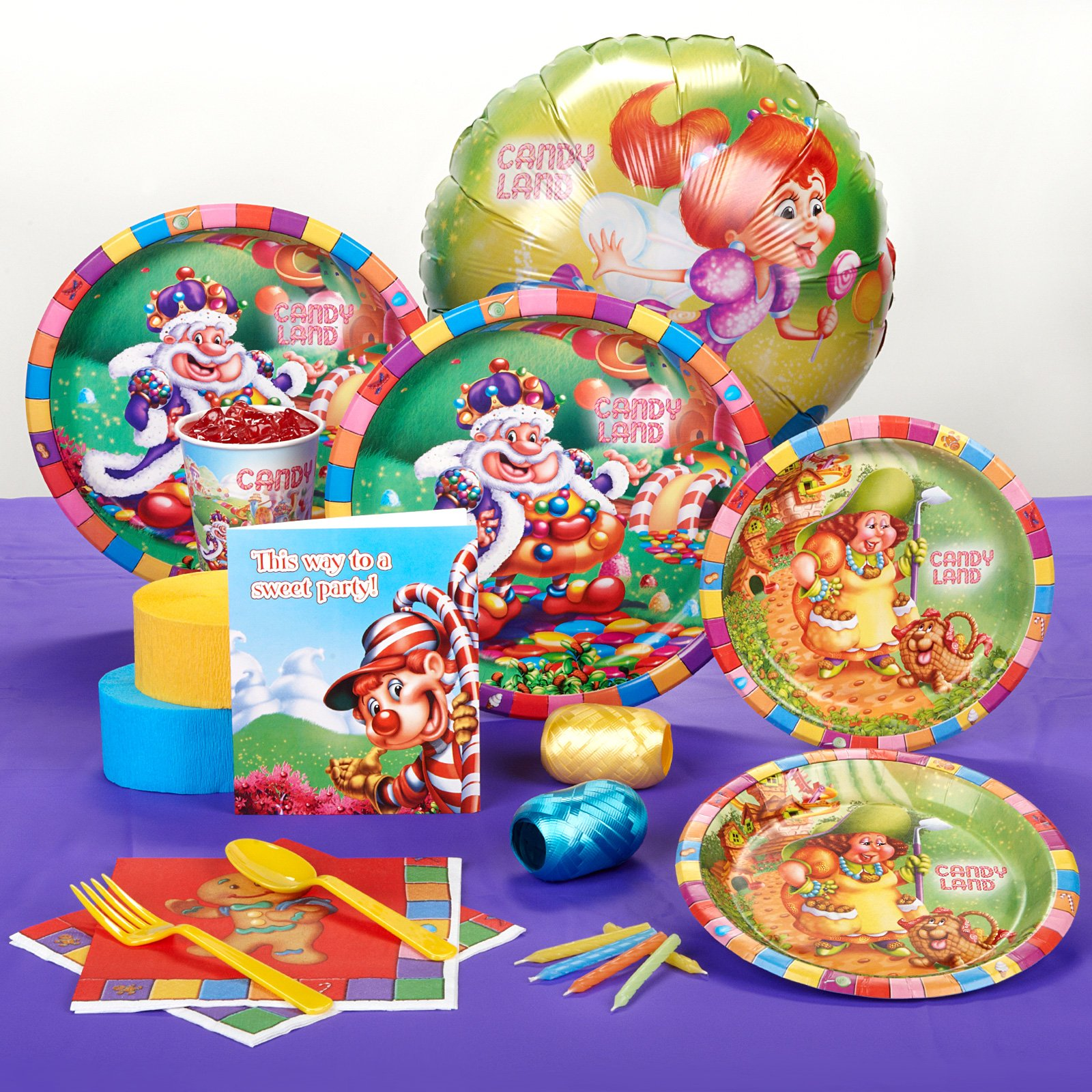 Candy Land Standard Party Pack for 8