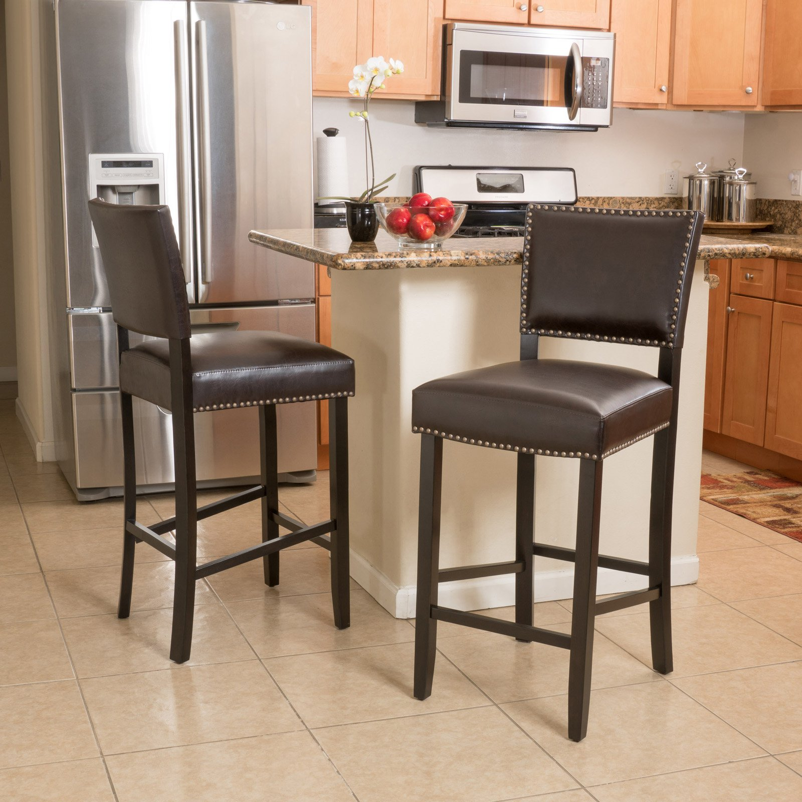 Cleveland Bar Height Stool with Cushion - Set of 2
