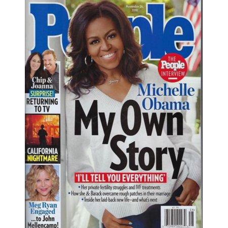 People Magazine November 26, 2018 My own Story Michelle Obama