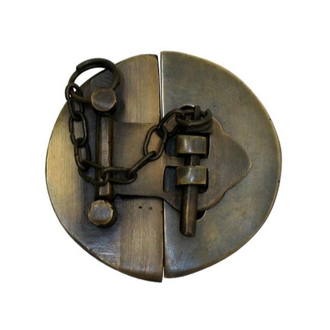 Gado Gado Hardware HLA1014 Simple Round Latch with Chain, Small
