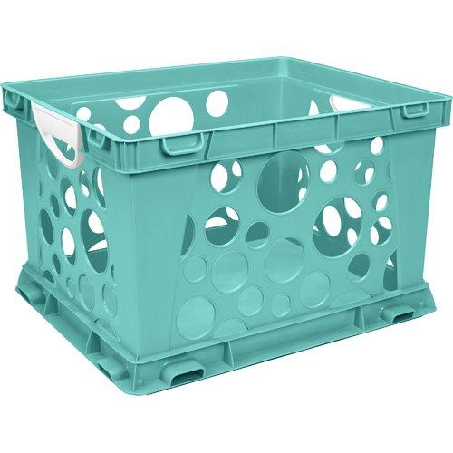 STOREX Premium File Crate with Handles (Set of 3)