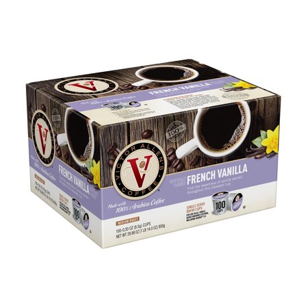 K-cup French Roast Coffee (Victor Allen's Coffee K Cups, French Vanilla Single Serve Medium Roast Coffee, 100 count)