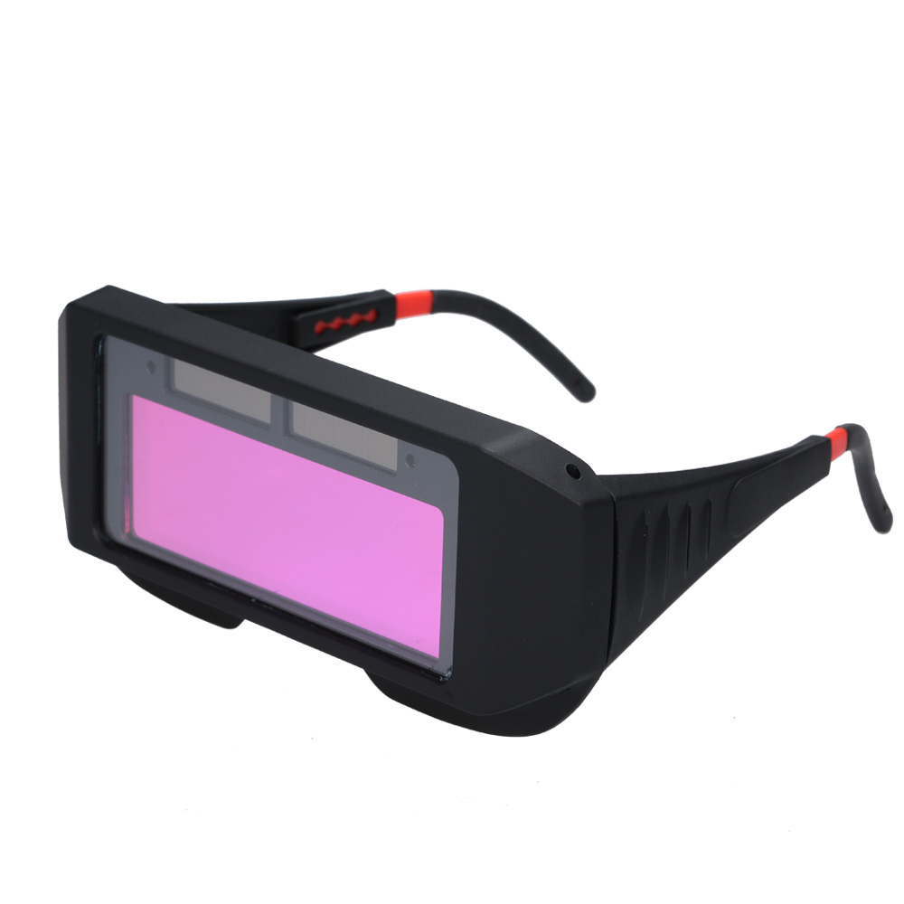Solar Powered Auto Darkening Welder Glasses Welding Safety Goggle Eye Protector